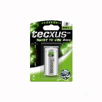 Tecxus 23805 Ready-to-Use Rechargeable C (Baby)/HR14 - 4500 mAh - LSD-