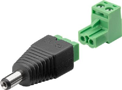 Goobay 76744 Terminal Block 2-pin  DC-Stecker (5,50 x 2,10 mm) - abne