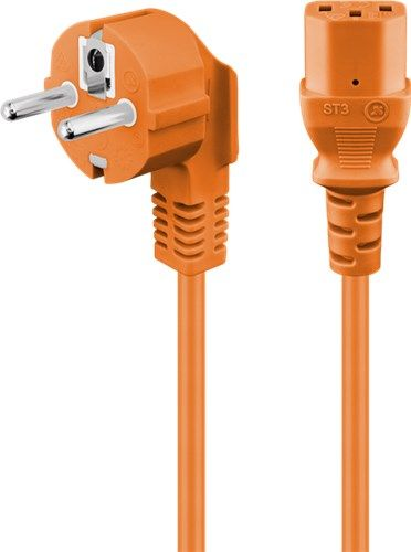 Goobay 95209 CAT 5e Patchkabel, SF/UTP, Orange, 0.25 m - CCA Kupfergem
